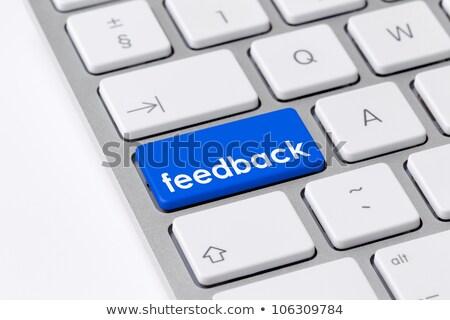 Foto stock: Feedback · clave · lugar · tecnología · prensa