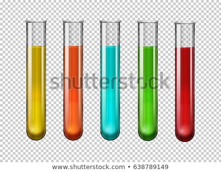 Kleurrijk reageerbuis foto chemische keten glas Stockfoto © cherezoff