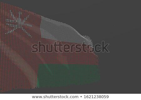 Umman ülke bayrak harita biçim metin Stok fotoğraf © tony4urban