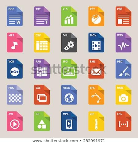 Archivo tipo icono web tabla presentación Foto stock © kiddaikiddee