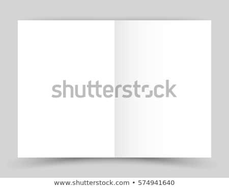 オープン 空っぽ 紙 小冊子 孤立した 白 ストックフォト © cherezoff
