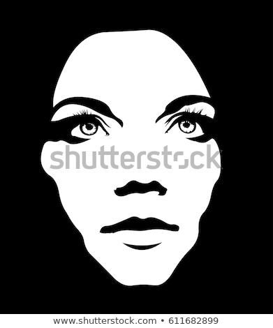 Intensywny niski kluczowych portret zamyślony smutne Zdjęcia stock © stevanovicigor