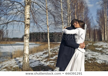 fiance with the bride in the birch Stock photo © Paha_L