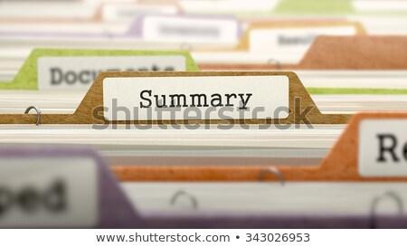Overviews - Folder Name in Directory. Stock photo © tashatuvango