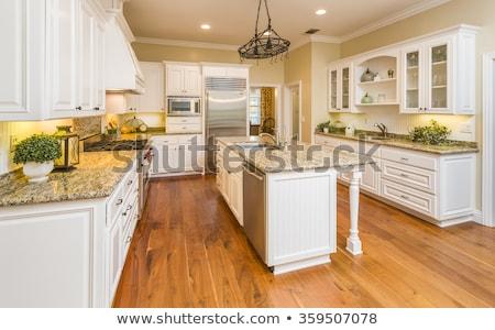 Foto stock: Belo · interior · da · cozinha · casa · cozinha