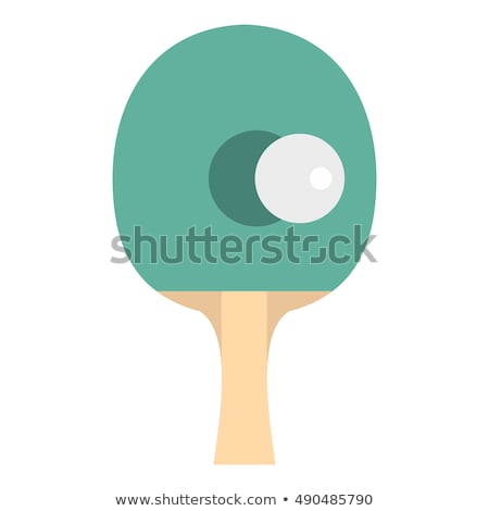Masa tenisi bat top beyaz spor arka plan Stok fotoğraf © bdspn