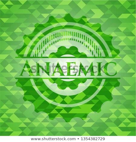 Aplastic anemia. Medical Concept on Green Background. Stock photo © tashatuvango