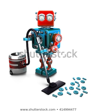 Retro robot base de datos tecnología aislado Foto stock © Kirill_M