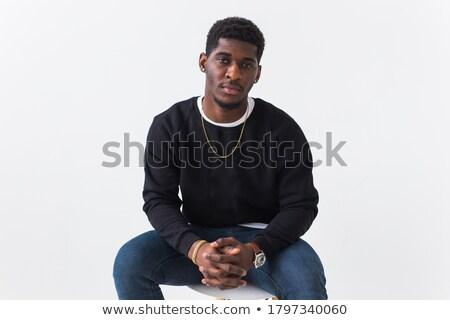 zwarte · rapper · karakter · persoon · afrikaanse · muziek - stockfoto © tatiana3337