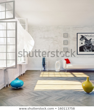 Beautiful living room open to a yard Stock photo © jrstock