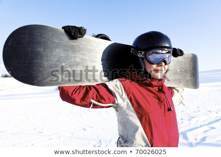 Portrait of a young adult female snowboarder Stock photo © Nobilior