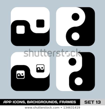 Piazza yin yang abstract simbolo bianco arte Foto d'archivio © zven0