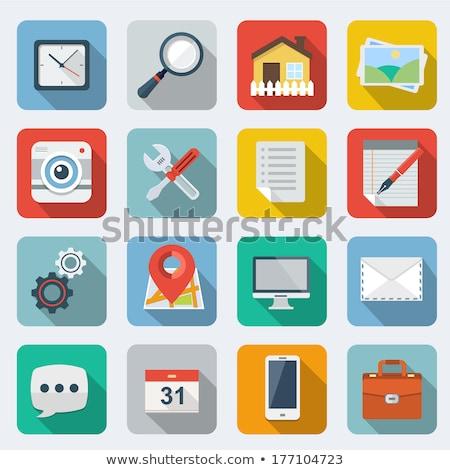 mobile repair icon flat design stock photo © wad