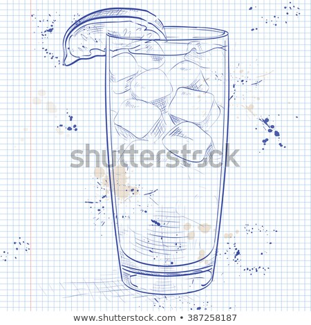 cocktail sea breeze on a notebook page stock photo © netkov1