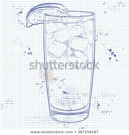 клюква · коктейль · изолированный · белый · очки - Сток-фото © netkov1
