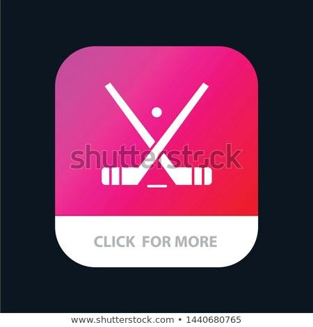 Stock fotó: Játszik · jégkorong · 3d · render · arc · férfi · sport