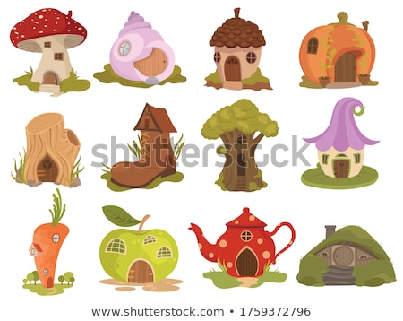 gnome with mushrooms in the forest Stock photo © adrenalina