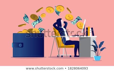 banco · línea · transferencia · de · dinero · pago · vector · colegas - foto stock © orson