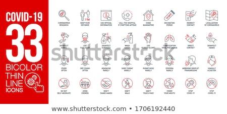 Orvosi ikonok ikon gyűjtemény stílus rajzolt ibolya Stock fotó © ahasoft