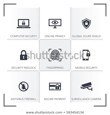 botão · projeto · segurança · proteção · computador - foto stock © wad