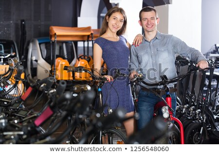 People Renting a Bike Stock photo © artisticco