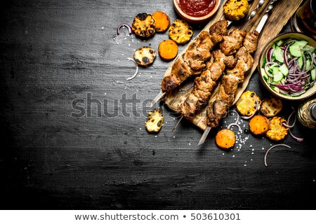 Shish kebab and grilled corn Stock photo © Digifoodstock