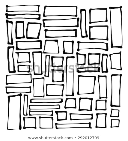 Photo stock: Hand Drawn Rectangle And Square Shapes Over White