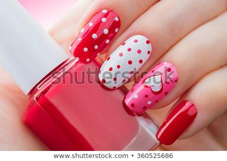 украшенный ногти женщину рук красоту Сток-фото © Makse