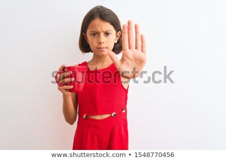piękna · dziewczyna · czekolady · pragnienie · portret · dziewczyna - zdjęcia stock © neonshot