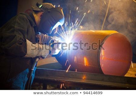 Gazu cięcie hot metal stali tablicy Zdjęcia stock © mady70