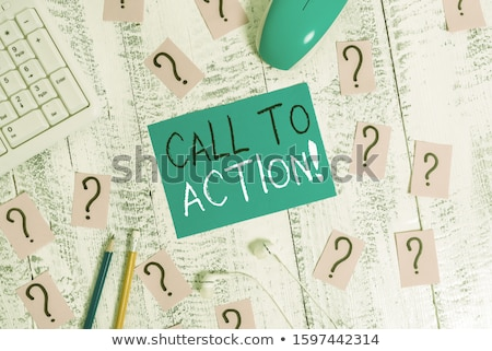 Do it now text and office tools on wooden table Stock photo © fuzzbones0