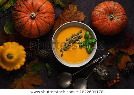 Pompoen eten icon dominant halloween squash Stockfoto © Lightsource