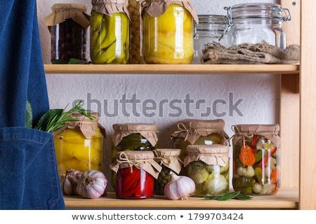 Marynowane warzyw żywności drewna Sałatka Zdjęcia stock © Digifoodstock