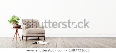 nappali · modern · bútor · 3d · render · ház · ablak - stock fotó © spectral