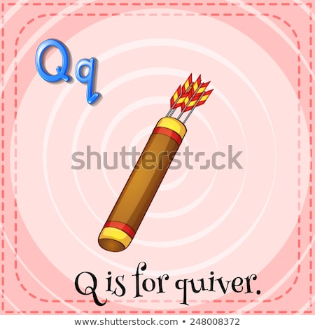 Flashcard letter Q is for quiver Stock photo © bluering