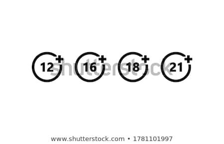 Icons age limit, vector illustration. Stock photo © kup1984