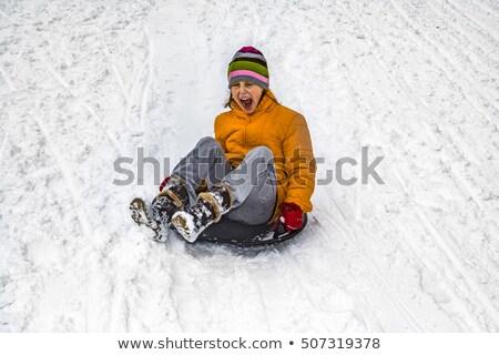 少女 · 搭乗 · ダウン · 丘 · 女性 · スポーツ - ストックフォト © meinzahn