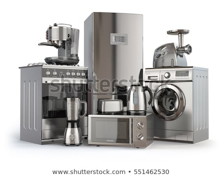 elektrische · oven · geïsoleerd · witte · voedsel · home - stockfoto © kayros