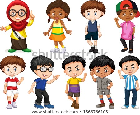 crianças · diferente · ilustração · menina · crianças - foto stock © bluering
