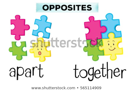 Opposite words for together and apart Stock photo © bluering