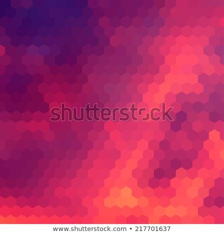 Sundown themed background with hex grid Stock photo © SwillSkill