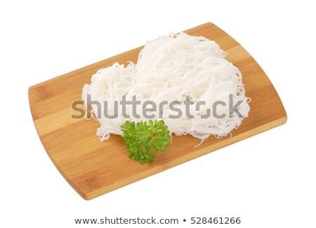 Főtt rizs tészta fából készült vágódeszka Stock fotó © Digifoodstock
