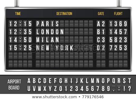空港 スケジュール 時間 実例 孤立した 白 ストックフォト © alexmillos