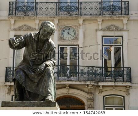 Standbeeld gebouw reizen architectuur Europa stad Stockfoto © alessandro0770