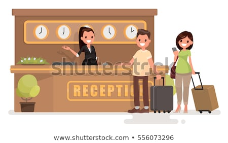 vector flat style illustration of hotel reception stock photo © curiosity