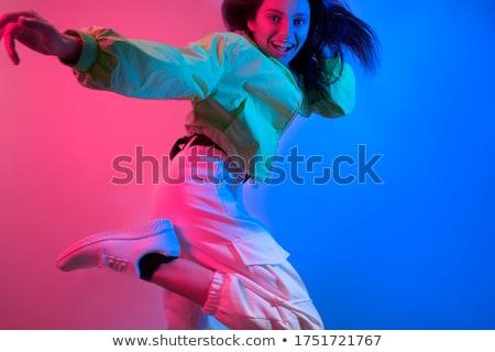 the art photo emotional dance of beautiful blue woman stock photo © master1305