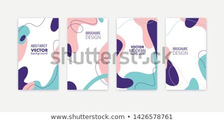 Dekoratif kart vektör ağaç çiçekler Stok fotoğraf © Elensha