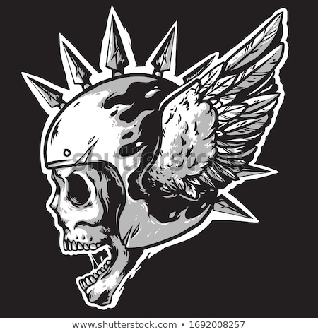 Evil Winged Skull Stock photo © Krisdog