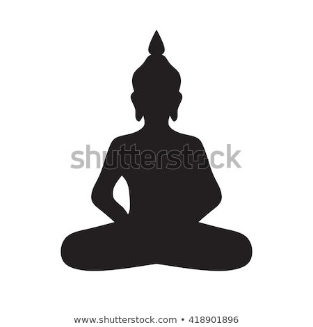 Icon  buddha  silhouette Stock photo © Olena