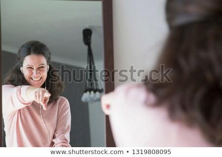 Dansen vrouw spiegel achteraanzicht jonge vrouw lichaam Stockfoto © dash